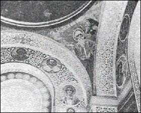 Лик императора Николая II в Сербском монастыре св. Наума